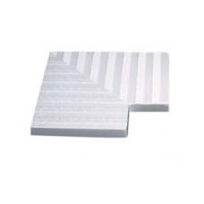 Угловой элемент переливной решетки 300 мм, 90 гр., белый, полиэстер (77504)