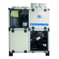 Система вентиляции бассейна GreenAir-Pool 1200, с терморазрывом и тепловым насосом