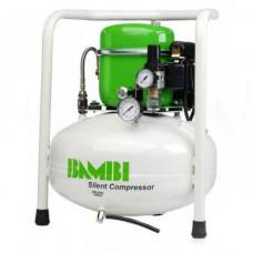 Компрессор Bambi BB24V бесшумный масляный, 24 л, 0,34 кВт, 40 дБ