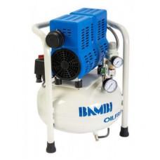 Компрессор Bambi PT15 бесшумный безмасляный, 15 л, 0,55 кВт, 54 дБ