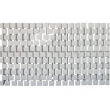 Решетка переливная SQUARE 200х25 мм, цвет белый