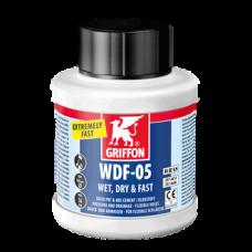 Клей для гибких труб ПВХ WDF-5 0,25 л (бутылка с кисточкой) GRIFFON