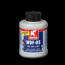 Клей для гибких труб ПВХ WDF-5 0,5 л  (бутылка с кисточкой) GRIFFON