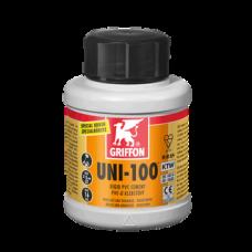 Клей для ПВХ UNI-100 (бутылка с кисточкой) 0,25 л GRIFFON
