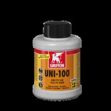 Клей для ПВХ UNI-100 (бутылка с кисточкой) 0,5 л GRIFFON