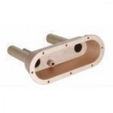 Плато пневмокнопки с двумя регуляторами, закладная часть, бронза (для соленой воды)