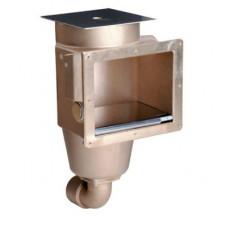 """Скиммер 240 мм, плитка/пленка, бронза для соленой воды, 2"""", Hugo Lahme (с 1 выходом)"""