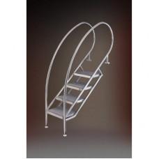 Лестница MIAMI SWING 08.1, 6-ступеней, ступень нерж. сталь 500х360 мм (без монт. к-та), AISI 316