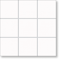 Керамическая мозаика, Berlin, Timeless White, 102x102x6,5 мм, белый