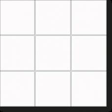Керамическая мозаика, Berlin, Timeless White matt, 102x102x6,5 мм, белый