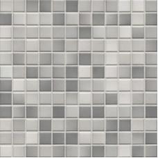 Мозаика серия Fresh 2,4 x 2,4 см Light gray mix glossy (глазурованная)