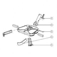 Зажим для соединения штанги со щеткой