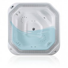 Переливная гидромассажная ванна Ospa Kalithea, 2125 л, 4 места