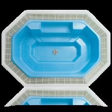 Переливная гидромассажная ванна Ospa Rhodos A U, 2300 л, белый