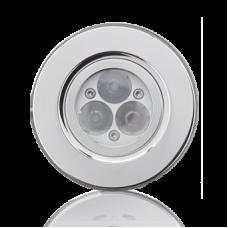 Подводный прожектор OSPA LED 3 х 3 Вт, Ø90 мм, белый, заподлицо