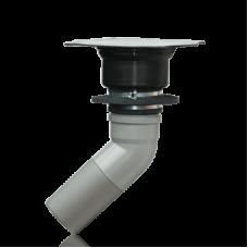 Сливной трап Ospa PVC DN 100, 45°, 250 x 120 мм